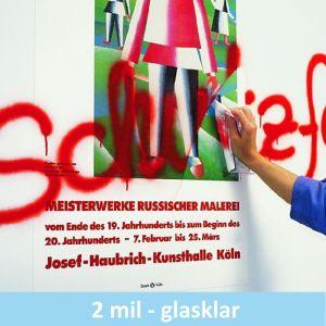 Klarer Graffiti-Schutz mit Speziallackierung