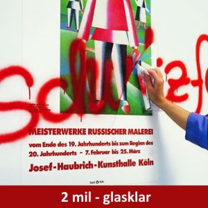 Glasklarer Graffiti-Schutz