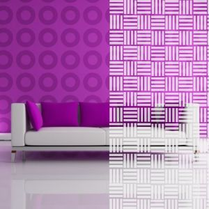 Weißes Mosaik-Muster
