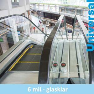 Glasklarer Kratzschutz für Glasflächen