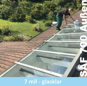 Glasklarer Splitterschutz